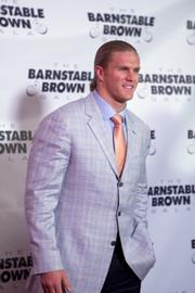 Green Bay Packers linebacker Clay Matthews posed for photos on the red carpet.