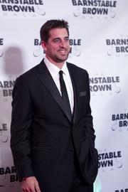 """Green Bay Packers quarterback Aaron Rodgers walked the red carpet again this year. Rodgers is returning to the Kentucky Derby for a fifth time, calling the race """"the most exciting two minutes other than a two minute drive in football."""""""