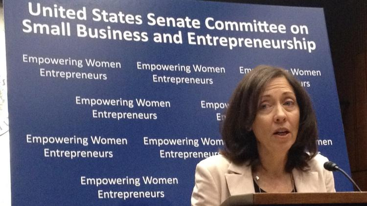 Sen. Maria Cantwell, D-Wash., told women business owners that she will push legislation to give them greater access to capital and government contracts.