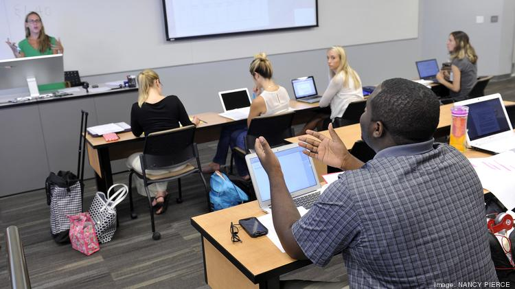 Hiring prospects aren't what they were in Charlotte before the recession. But new lawyers enter the work force every spring. Here are students at the Charlotte School of Law.