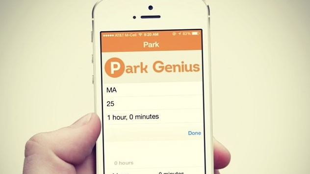 The iOs platform currently available for the Park Genius app, one of the Kyn accepted investments.