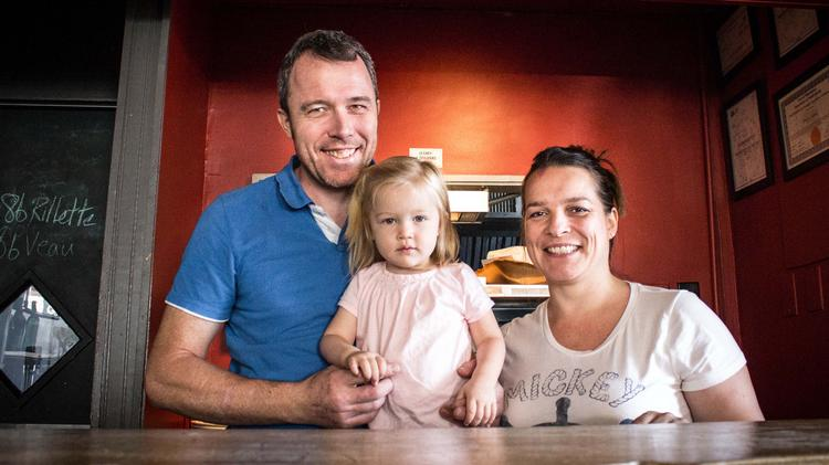 Bibou owners Pierre and Charlotte Calmels with daughter Eloise.