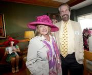 Vivian Ruth Sawyer and her husband, Tom Noland, vice president of corporate communications for Humana Inc., were among those who hosted several guests on Derby Day.