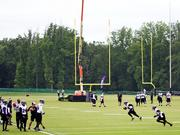 The Baltimore Ravens opened training camp July 24 at the team's Owings Mills practice facility.