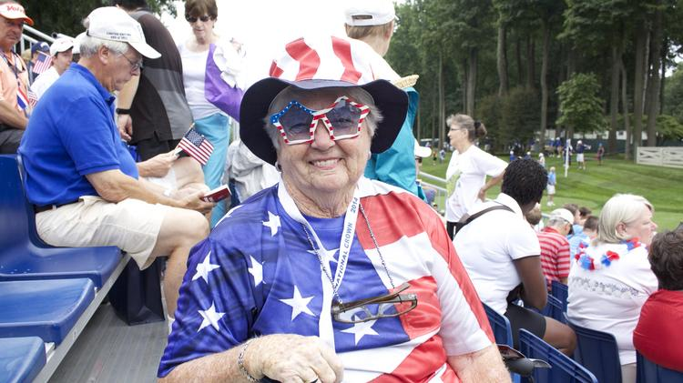 Carolyn Miller traveled more than 2,500 miles to see the inaugural 2014 LPGA International Crown at Caves Valley Golf Club in Owings Mills.