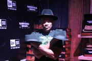 Darryl McDaniels, of Run DMC, showed off some of the New Era fedoras that were given to guests.