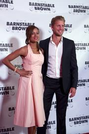 """Matt Barr of the History channel mini-series """"Hatfields & McCoys"""" posed for photos on the red carpet."""
