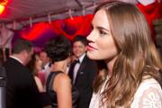 """Actress Christa B. Allen, who portrays Charlotte Grayson on the ABC drama """"Revenge,"""" spoke with reporters on the red carpet."""