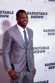 Green Bay Packers wide receiver Randall Cobb stopped for photos on the red carpet.