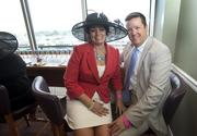 Appriss Inc. CEO Mike Davis and his wife, Kathy Davis, were guests in the Fifth Third Bank suite.