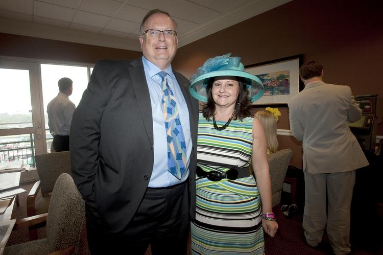 Dr. Mark Lynn and his wife, Cindy Lynn, entertained family at the Churchill Downs Jockey Club Suites.