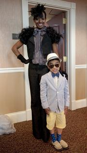 T Friedman and her son, Noasosa Friedman, 5, are shown in the Jockey Club Suites.