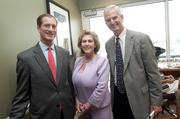 From left, Tom Partridge, president and CEO of Fifth Third Bank Kentucky; Alice Tassman, and Kevin Kabat, CEO of Fifth Third Bancorp, in the bank's Jockey Club Suites.