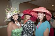 From left, Eldora Rogers, Tana Bolus and Janet Woosley were enjoying Derby Day in the Jockey Club Suites.