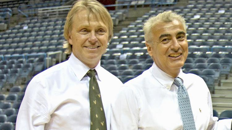 From left, Wes Edens and Marc Lasry