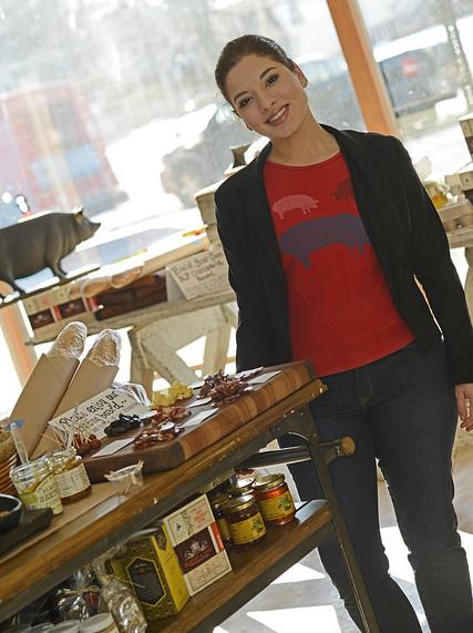 Co-owner Carolina Story in Three Little Pigs, the 3-year-old butcher and charcuterie shop in Petworth.