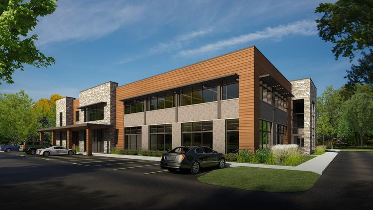 The two-story building is designed by JAKnetter Architects, Waukesha.
