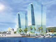 """Facades of condos near a private marina will feature a """"star chart"""" pattern, based on traditional Tahitian navigation tools."""
