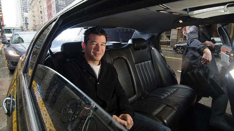 "Pictured is Uber CEO Travis Kalanick. The ride-sharing company is facing its first consumer complaint in North Carolina after a rider from Charlotte claimed he was bitten by spiders while riding in a ""filthy"" vehicle."