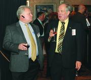 Roger Cowan, left and Al Lauttamus of Lauttamus Communications and Security.