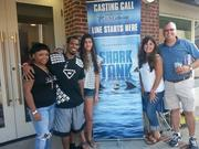 Philip Morrow and other entrepreneurs at the Shark Tank casting call.