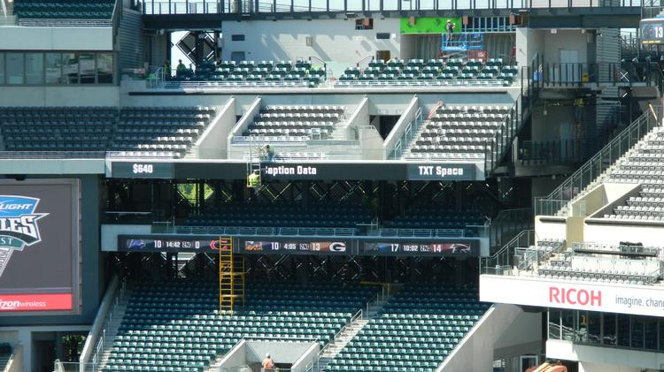 The Eagles have added 1,626 seats at Lincoln Financial Field as part of its two-year, $125M renovation project that is just about finished. Work is still being done in the southwest seating area shown here.