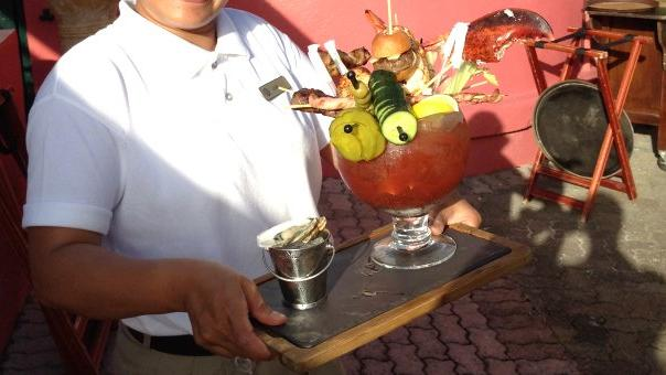 Who ordered the drink/seafood buffet combo?