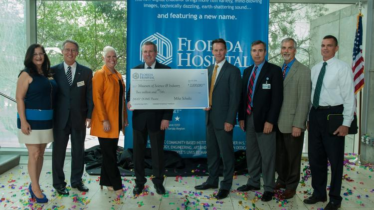 "MOSI and Florida Hospital representatives announce a ""transformational partnership."""