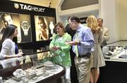 Cissy Brantley and Dr. David Allen Brantley browse merchandise at Windsor Jewelers in Phillips Place during the Best Doctors reception held there last week.