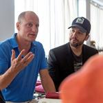 Woody Harrelson visits his newly acquired Inn at the Black Olive in Baltimore, brings magician David Blaine