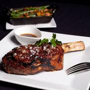 MetroPrime – Cowboy ribeye on the bone; prized among steak lovers for its marbling and flavor. Served with house recipe worcestershire $51