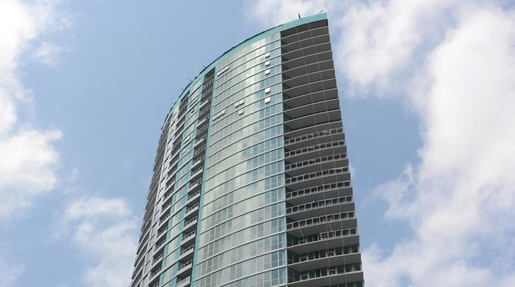 Magellan Development Group's LPM Apartments will open in phases starting on the lower floors between Aug. 1 and late October. It's offering one-month free rent to new tenants.