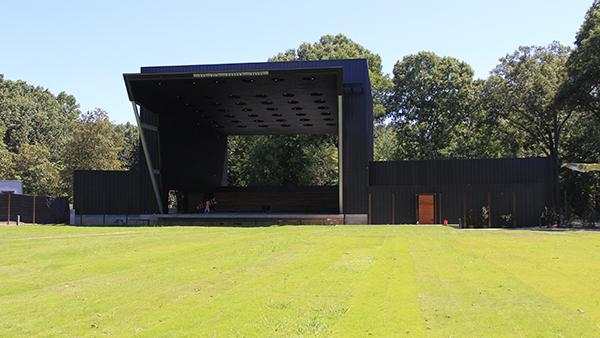 Front of stage at Memphis Botanic Garden