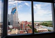 A view of downtown Nashville from the Nashville Room in the new Butler Snow space.