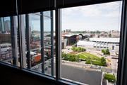 A view of the Music City Center and SoBro from the Nashville Room in the new Butler Snow space.