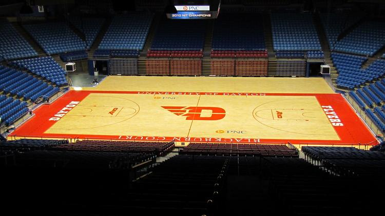 University of Dayton is making some changes to its logo after a less-than-popular roll-out, and will have three different versions of the logo. The new version now on center court at UD Arena is all red, instead of red and blue.