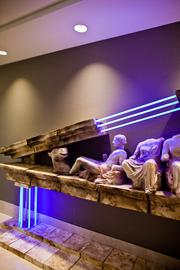 """Rod Moorehead of Oxford, Miss., created the scultpure """"Elgin's Piano"""" on display at Butler Snow."""