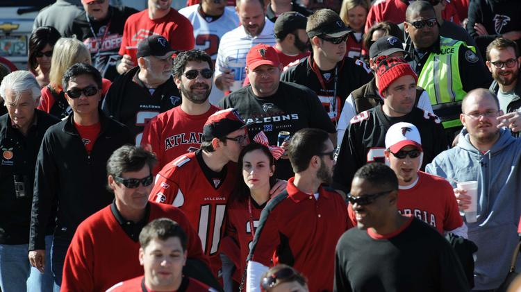 Atlanta Falcons fans moved from nearly the worst in 2013 to nearly middle of the pack in 2014, according to an annual study from Atlanta-based Emory University's Sports Marketing Analytics.