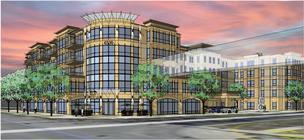Mount Development's proposed assisted living building at 6500 France Ave. in Edina (view looking southwest from France Avenue) where a medical office building had been proposed.