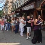 Crowd turns out for Hillary Clinton book signing in Saratoga Springs