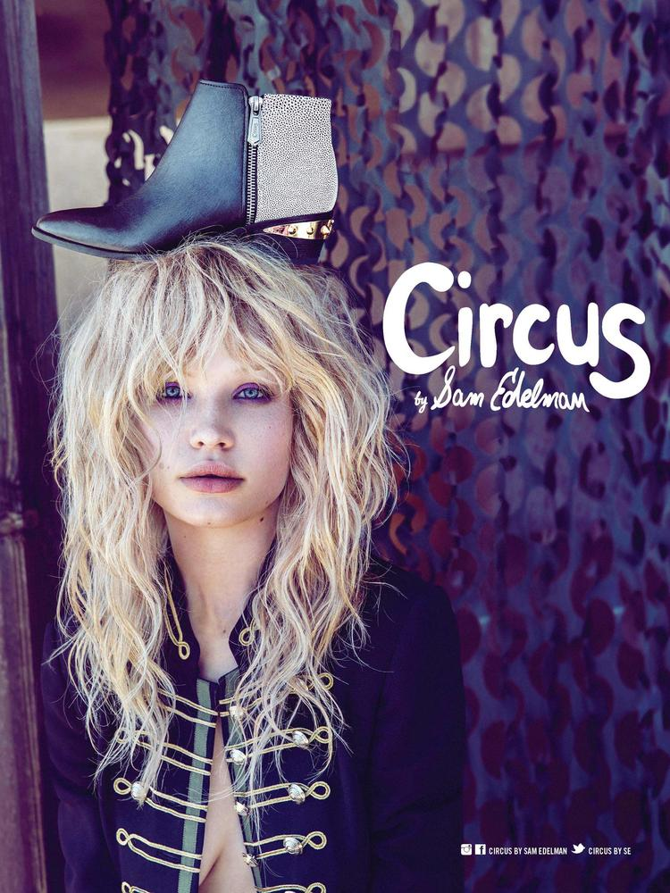 An example of Circus by Sam Edelman's fall ad campaign with Danish model Camilla Christensen.