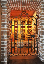 Wine cellar with antique gate from Barcelona