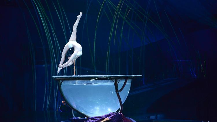 Cirque du Soleil's Amaluna show features a 6,000-lb bowl that holds 1,500 liters of water.