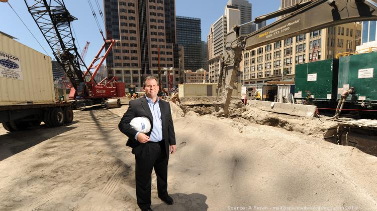 Clark is set up to build any project type in S.F., says Dell'Orto, at the site of the Salesforce Tower.