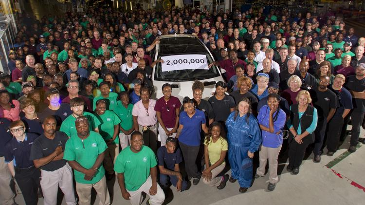 Mercedes celebrated making its 2 millionth vehicle at the Tuscaloosa plant this week.