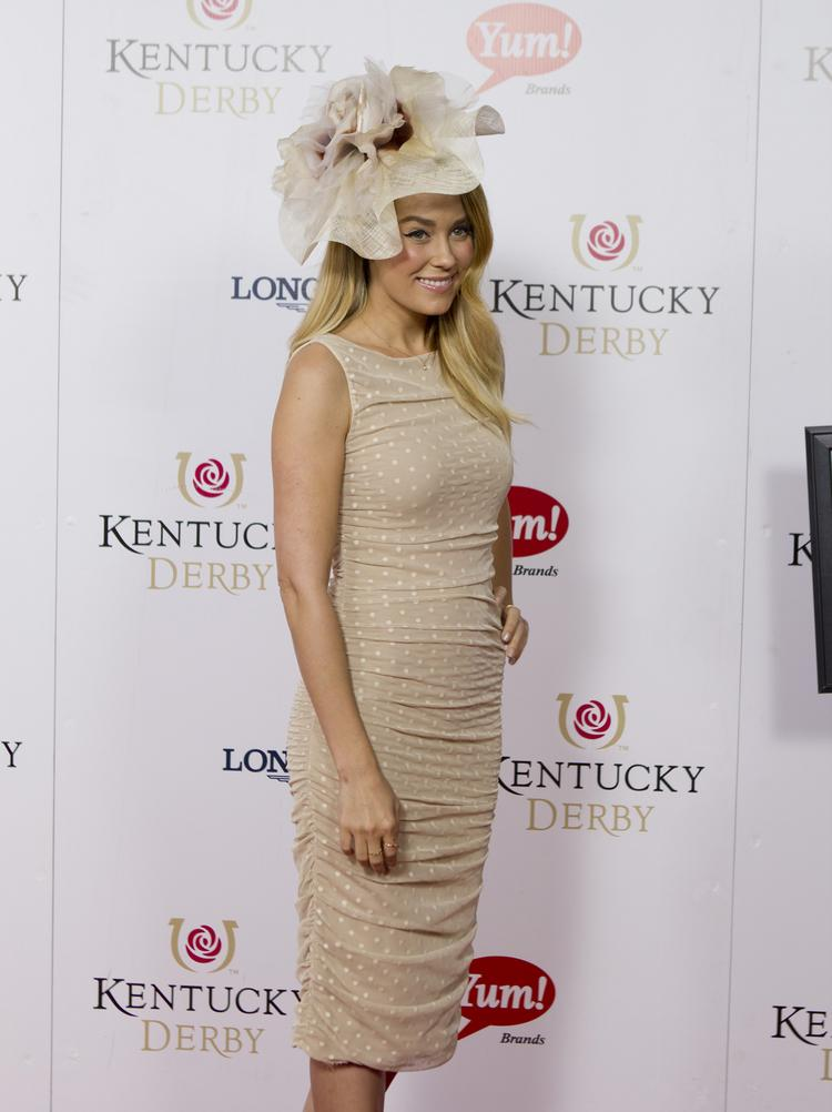 NBC is adding ice skaters Johnny Weir and Tara Lipinksi to offer commentary on Derby fashion, such as this ensemble worn by television personality and fashion designer Lauren Conrad at last year's Derby.