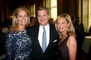 From left, Kristen Olson, benefit co-chairman; Nels Olson, vice chairman of Korn/Ferry International; and Mariella Trager, a refugees advocate.