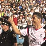 Up close with Real Madrid's <strong>Cristiano</strong> <strong>Ronaldo</strong> at Dallas' Cotton Bowl