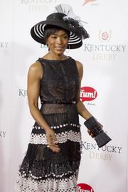 Movie and television actress Angela Bassett walks the red carpet on Derby Day.