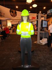 3M's booth featured a life-size, talking hologram.
